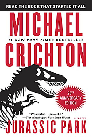Book cover for Jurassic Park by Michael Crichton
