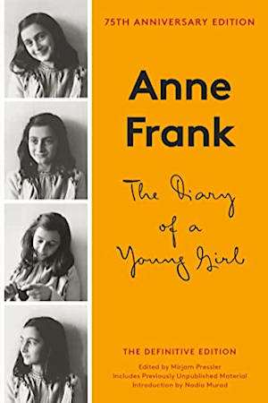 Book cover for The Diary of a Young Girl by Anne Frank