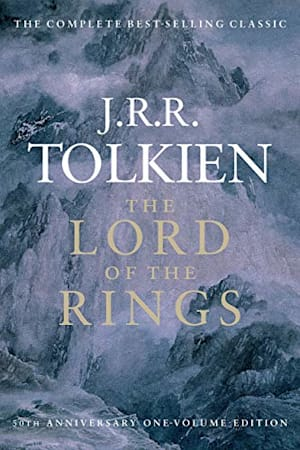 Book cover for The Lord of the Rings by J.R.R. Tolkien