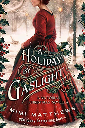 Book cover for A Holiday by Gaslight by Mimi Matthews