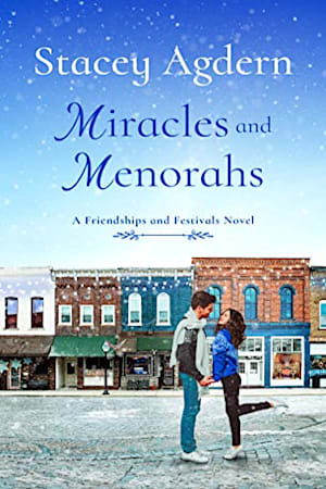 Book cover for Miracles and Menorahs by Stacey Agdern