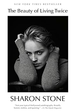 Book cover for The Beauty of Living Twice by Sharon Stone