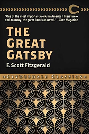 Book cover for The Great Gatsby by F. Scott Fitzgerald