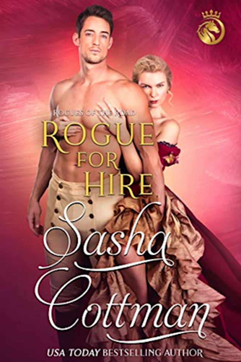 Book cover for Rogue for Hire (Rogues of the Road Book 1) by Sasha Cottman