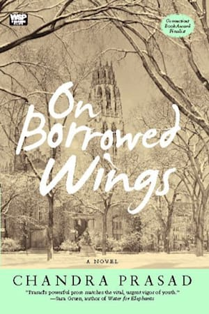 Book cover for On Borrowed Wings by Chandra Prasad