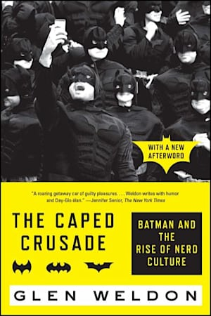 Book cover for The Caped Crusade by Glen Weldon