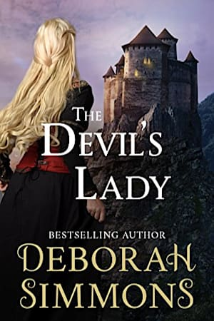 Book cover for The Devil's Lady by Deborah Simmons