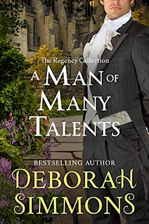 Book cover for A Man of Many Talents by Deborah Simmons