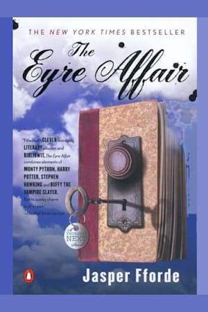 Book cover for The Eyre Affair by Jasper Fforde