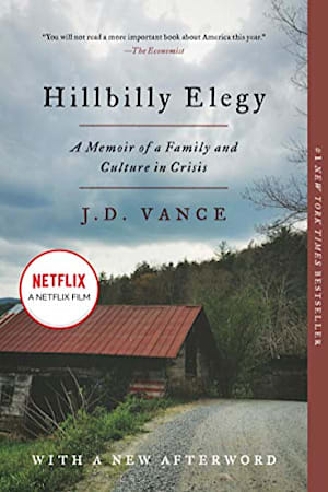Book cover for Hillbilly Elegy by J. D. Vance