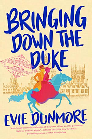 Book cover for Bringing Down the Duke by Evie Dunmore