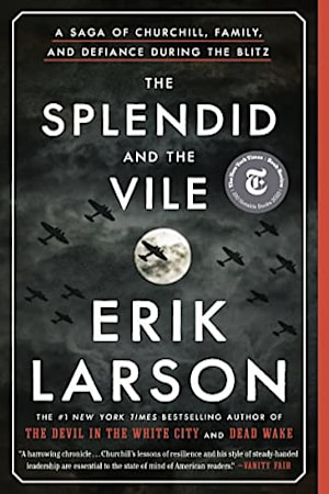 Book cover for The Splendid and the Vile by Erik Larson