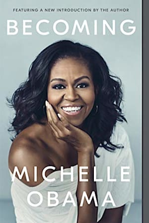 Book cover for Becoming by Michelle Obama