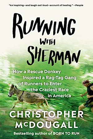 Book cover for Running with Sherman by Christopher McDougall