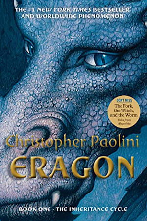 Book cover for Eragon by Christopher Paolini