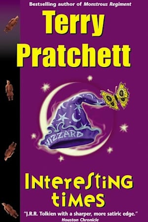Book cover for Interesting Times by Terry Pratchett