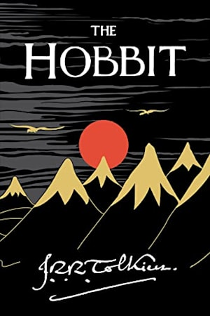 Book cover for The Hobbit by J.R.R. Tolkien