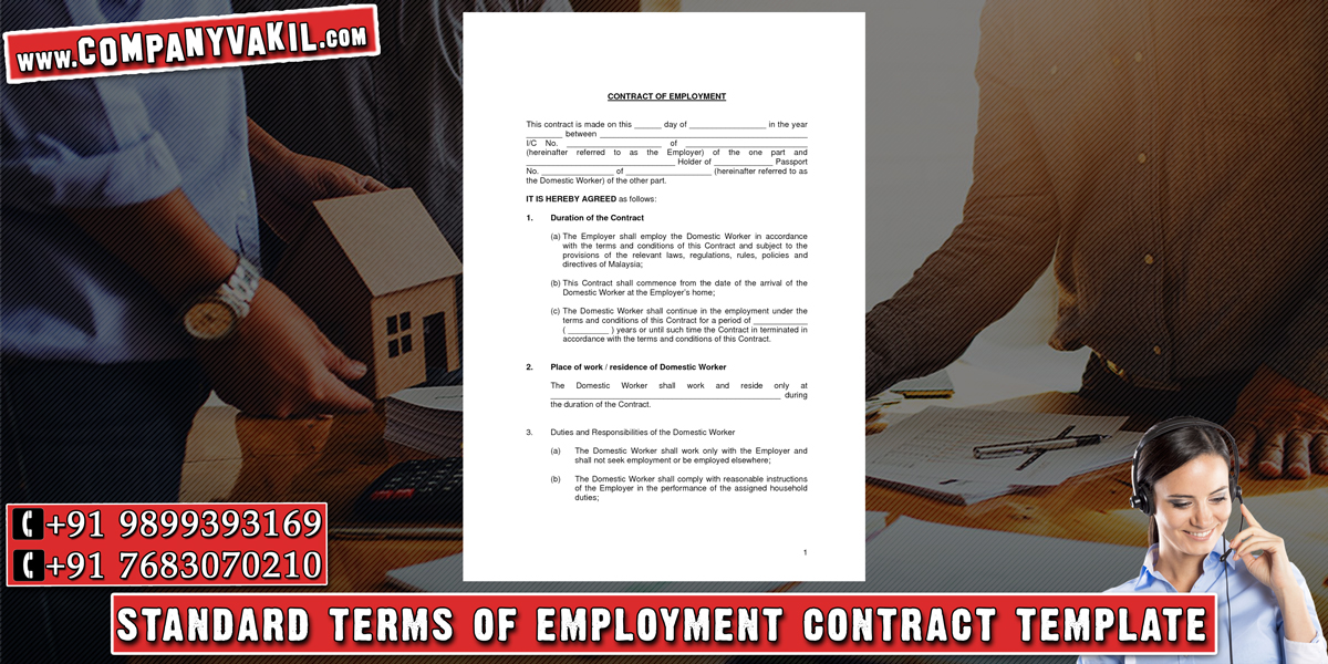 employment contract sample india Online