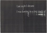 Last Night I Dreamt I Was Floating In A River Made Of - © 1991 Books