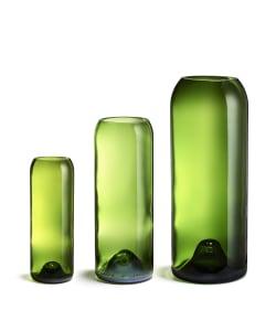 Vase en bouteilles recyclées, made in France