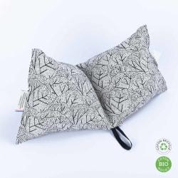 Coussin de sieste made in France en tissu jacquard, coton bio & recyclé