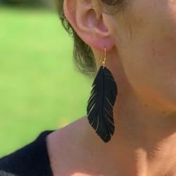 Boucles d'oreilles Gabrielle, en matière recyclée Made in France