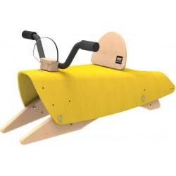 Jouet en bois évolutif - Bascule, porteur, moto 4 en 1