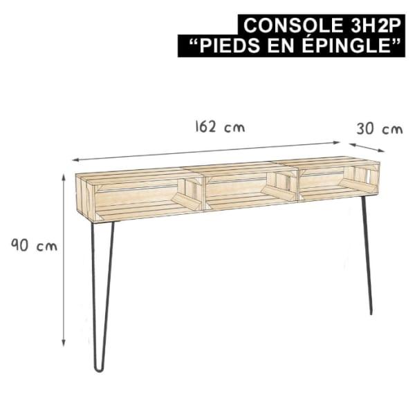 Meuble en bois évolutif et durable - Console, table d'appoint