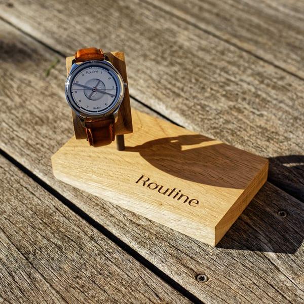 Porte-montre en bois Made in France, chêne massif, Routine