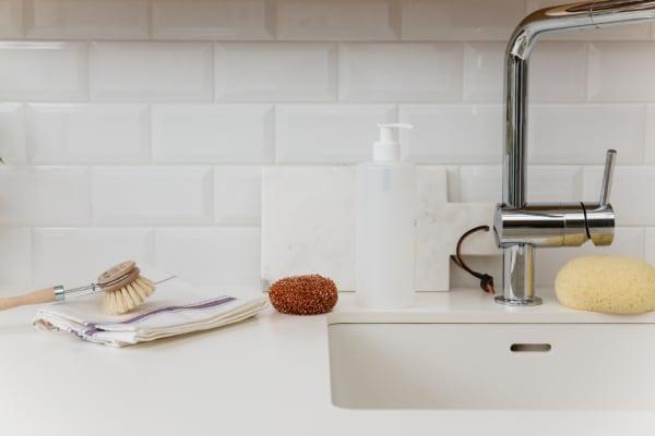 Coffret nécessaire à vaisselle zéro déchet, fabriqué en France