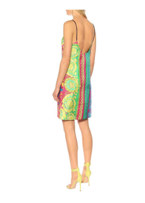 Versace multicoloured printed silk minidress %282%29