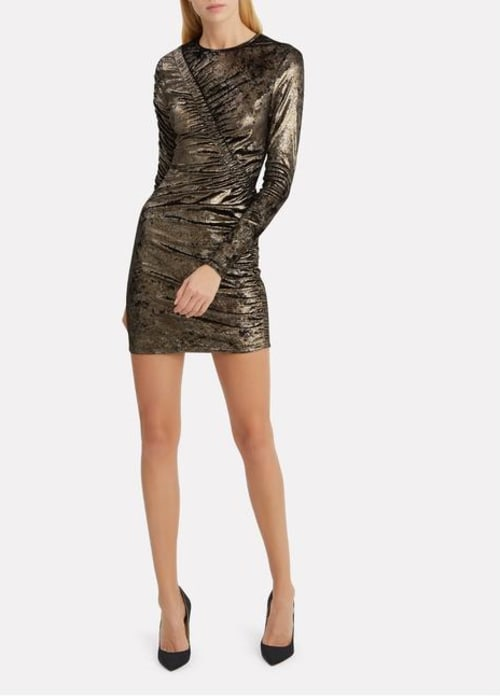 Ronny kobo collection gold yarden short cocktail dress size 2 xs 0 0 650 650