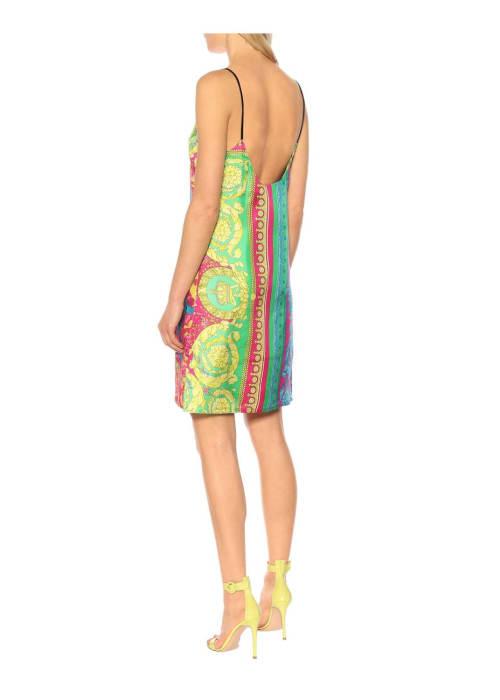 Versace multicoloured printed silk minidress %282%29