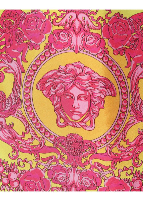 Versace multicoloured printed silk minidress %283%29
