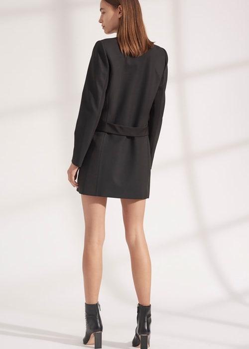 Wool grosgrain blazer dress a9576 f19 500x1000 a9576f19 wool grosgrain blazer dress black 04