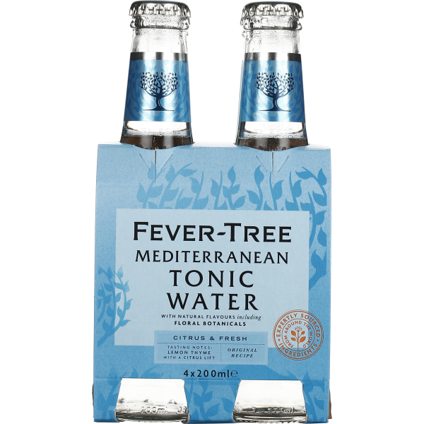 Fever Tree Mediterranean Tonic Water 4-pack 4x20CL