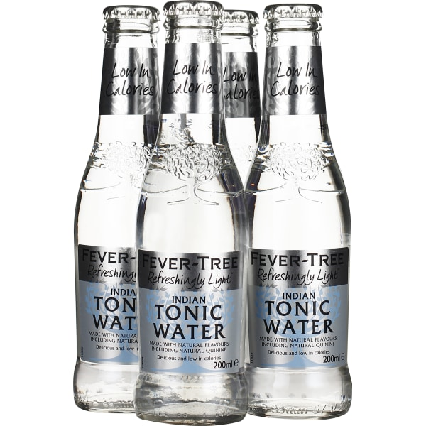 Fever Tree Naturally Light Indian Tonic Water 4-pack 4x20CL