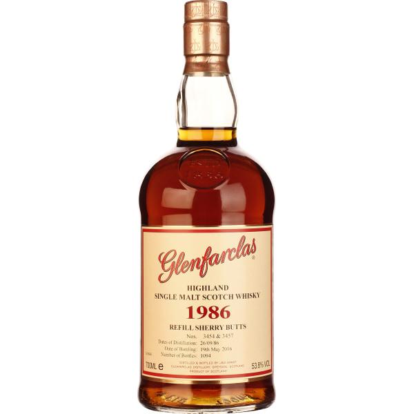 Glenfarclas Vintage 1986 Refill Sherry Butts 70CL