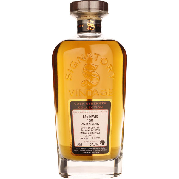 Signatory Ben Nevis 26 years 1991 Cask Strength 70CL