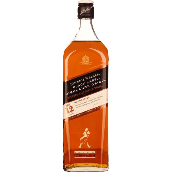 Johnnie Walker Black Label Highlands Origin 1LTR