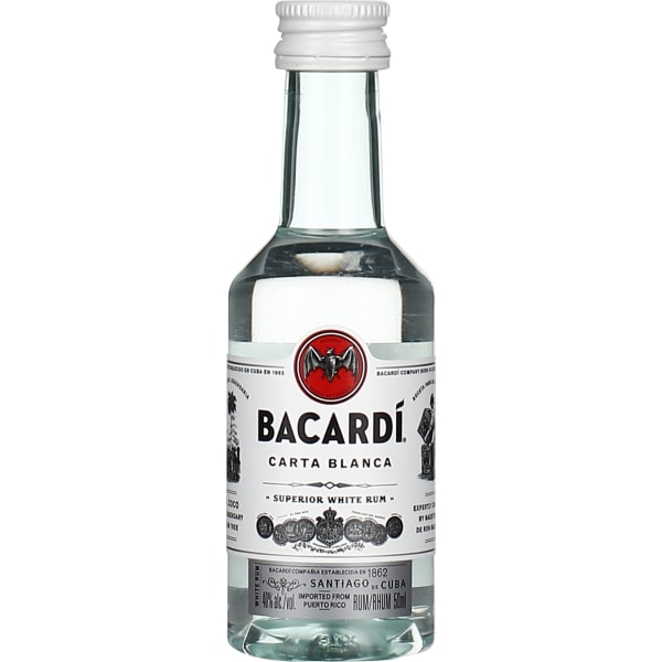 Bacardi Carta Blanca miniaturen 10x5CL
