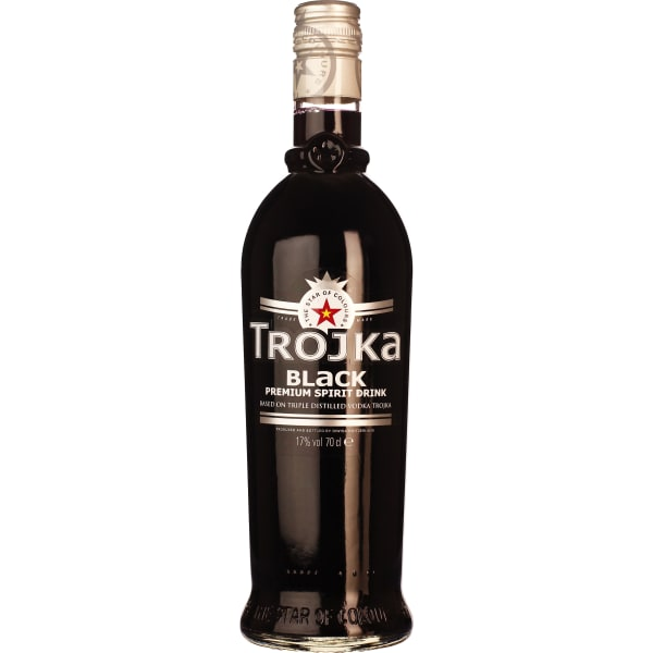 Trojka Vodka Black 70CL