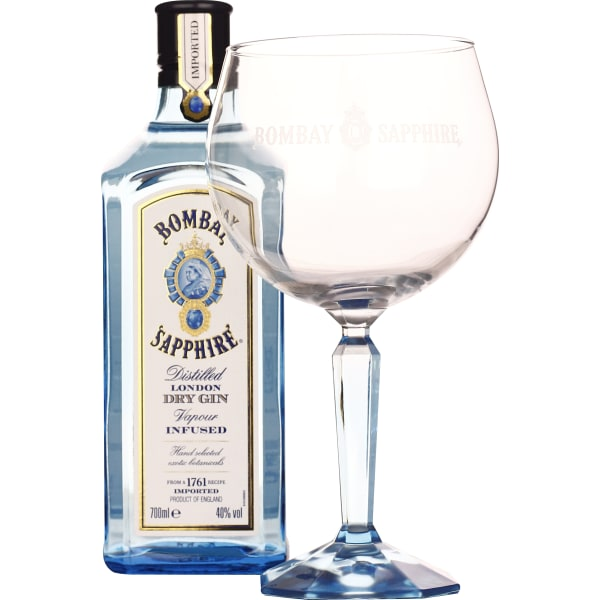 Bombay Sapphire Gin Copa Glass Giftset 70CL