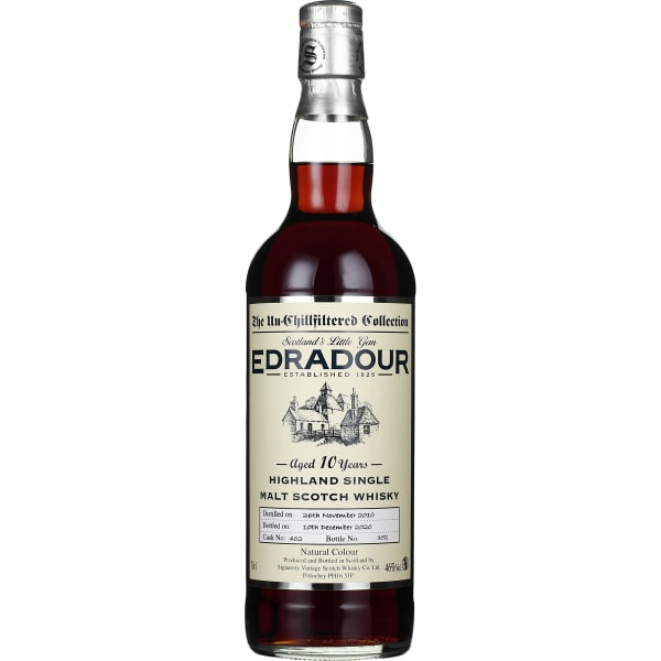 Signatory Edradour 10 years 2010 Un-Chillfiltered 70CL