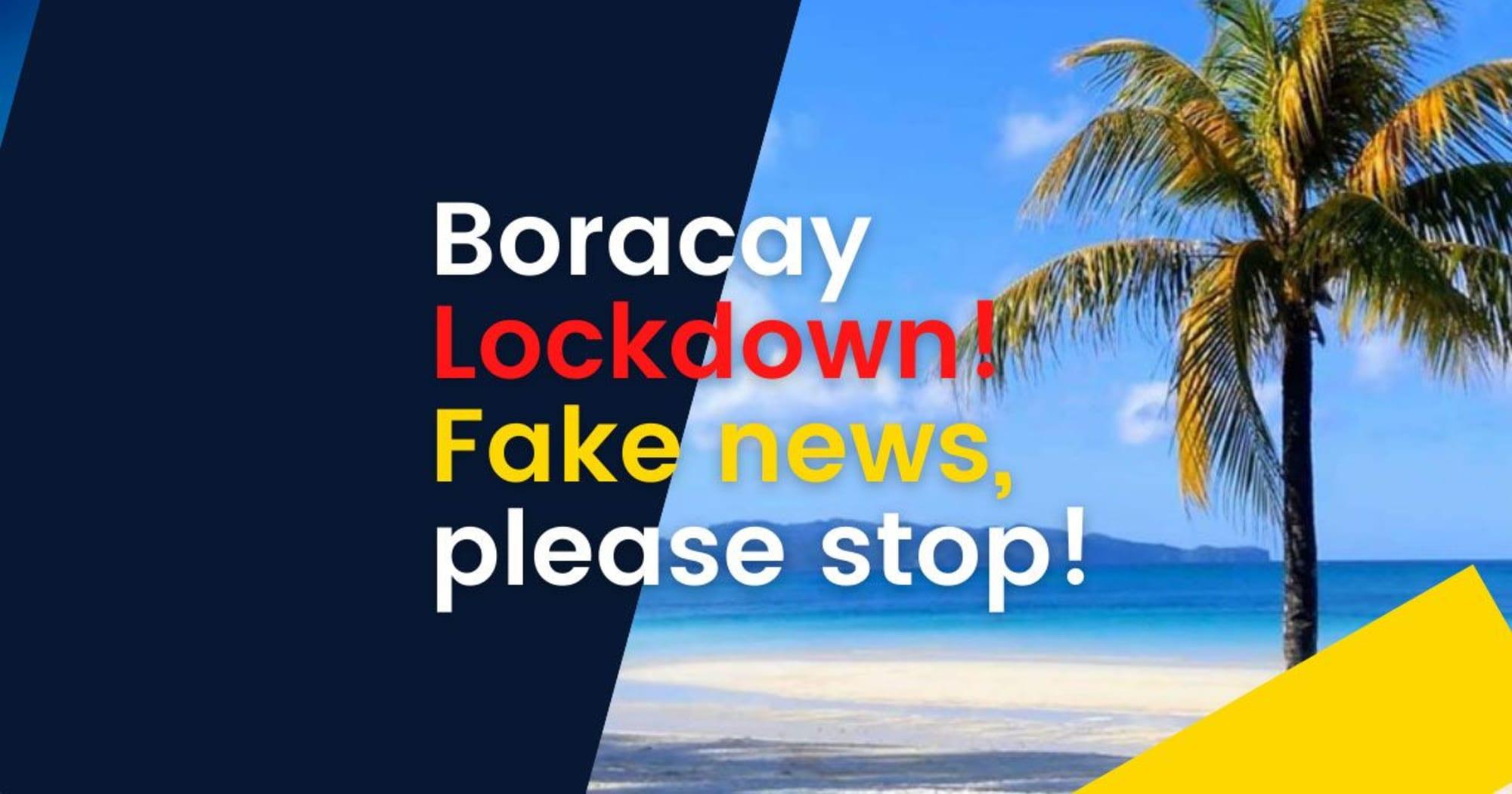 Boracay lockdown Fake News! -Town Mayor