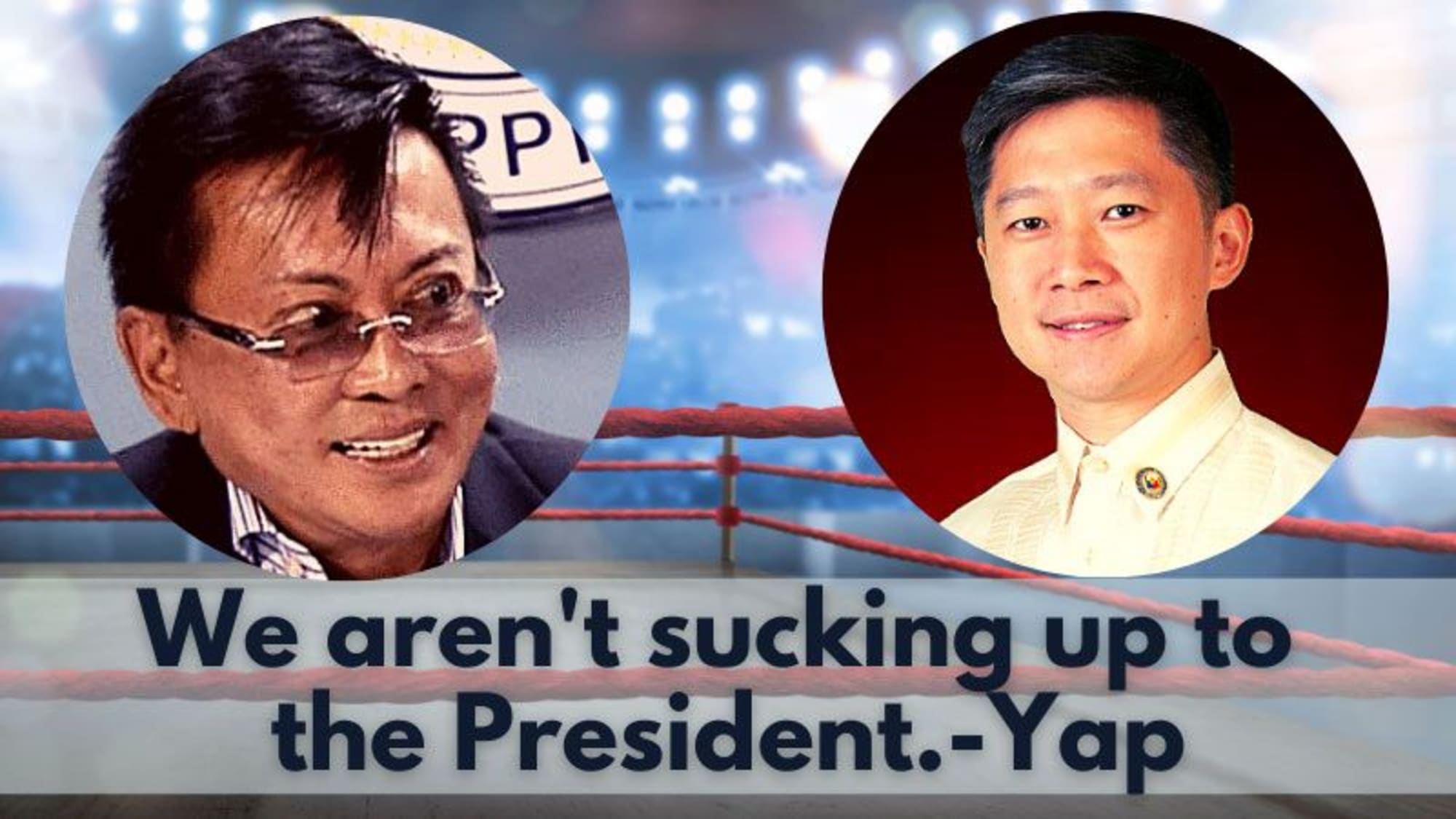 Did Cong. Yap just take a swipe at Cong. Haresco?