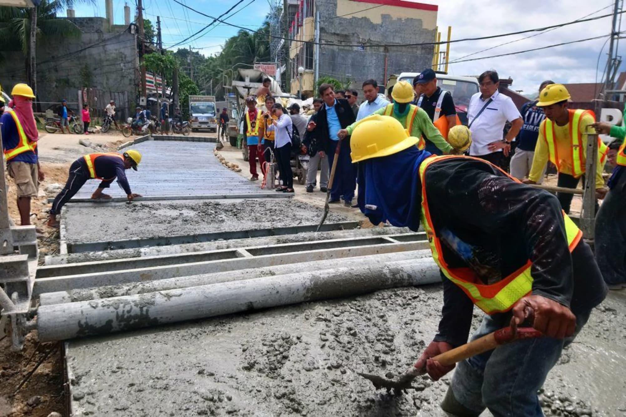 Boracay main road rehab 80% done–DPWH