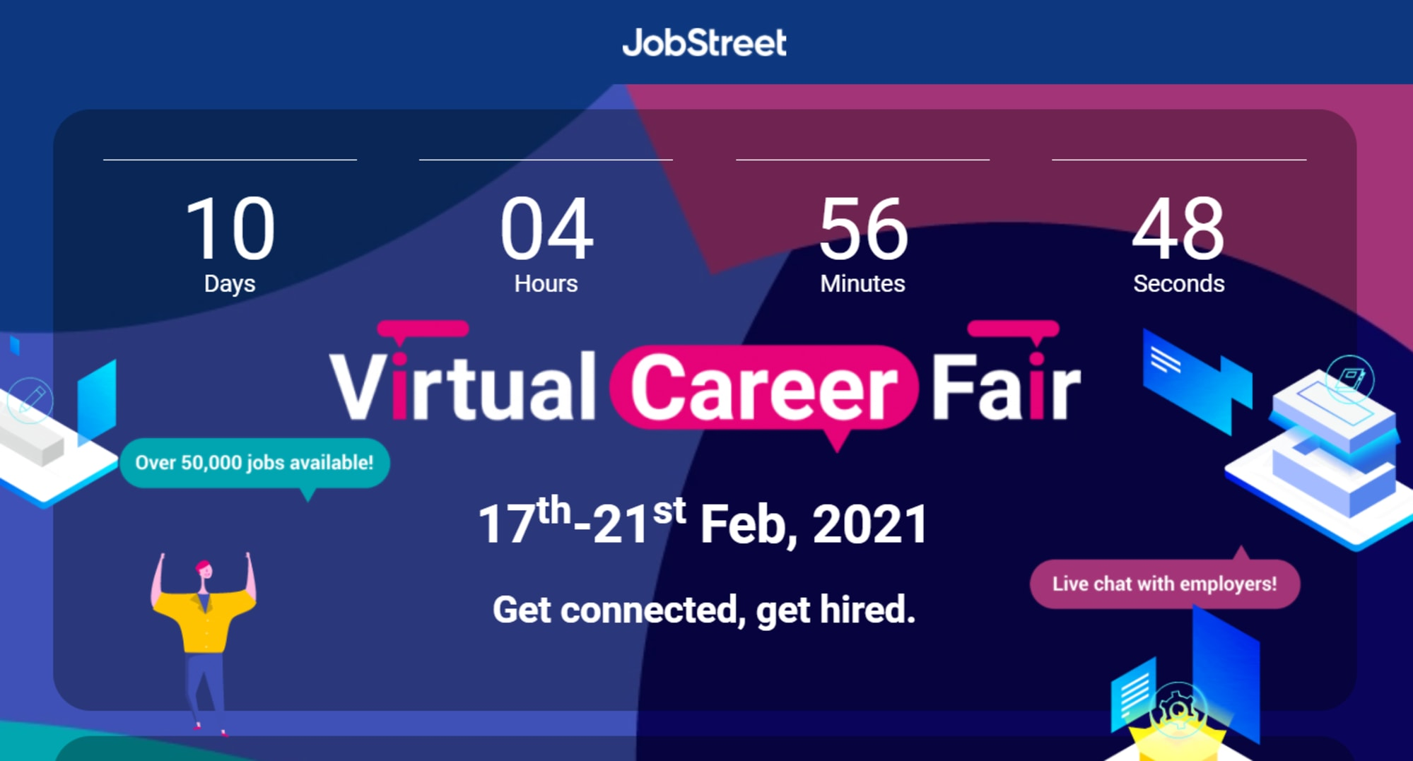 Upcoming virtual career fair, more than 55,000 jobs will be made available