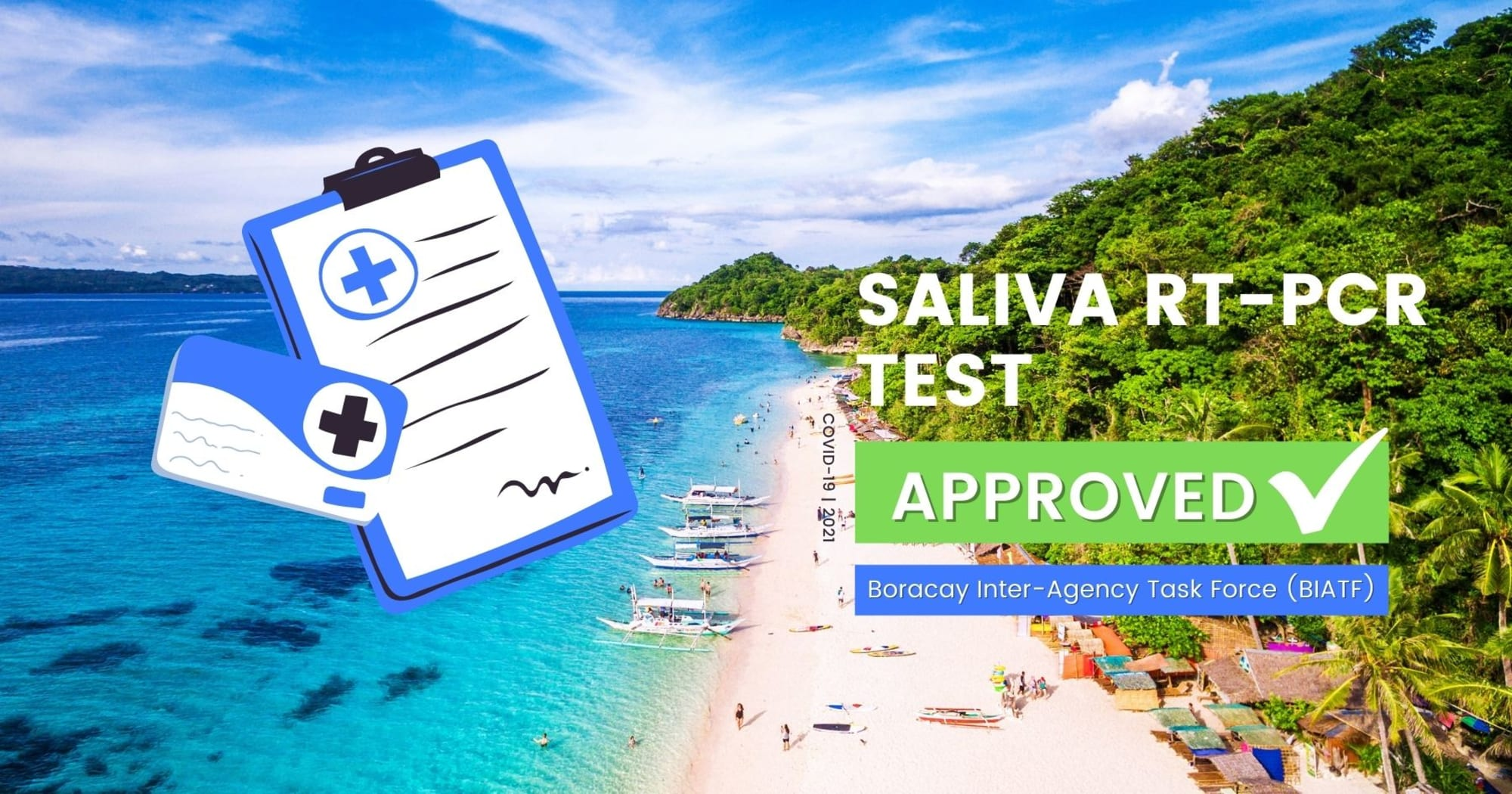 Saliva RT-PCR Now Approved to All Local Tourist bound to Boracay - BIATF