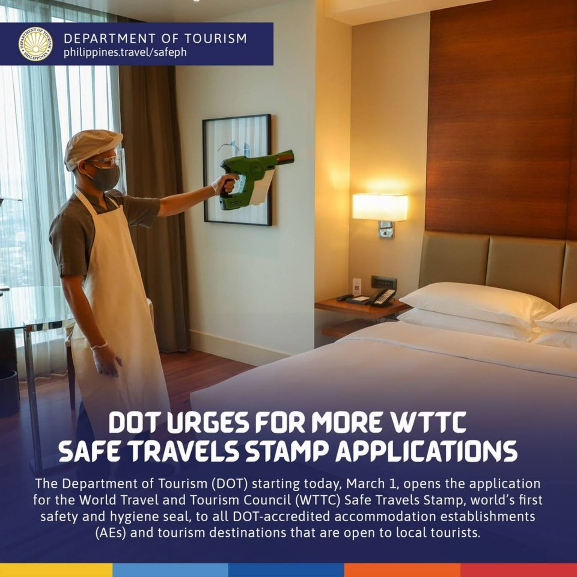 DOT opens the application for the World Travel and Tourism Council (WTTC) Safe Travels Stamp